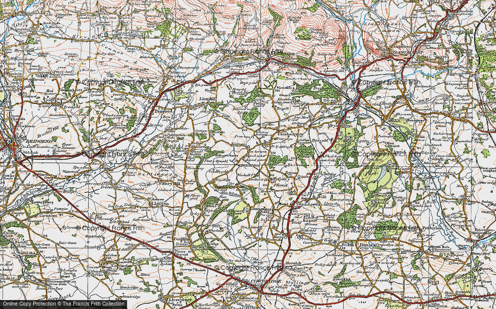 Old Map of Ton Breigam, 1922 in 1922