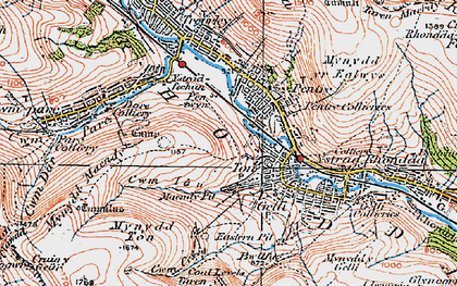 Old map of Ton Pentre in 1923