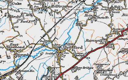 Old map of Tone Green in 1919