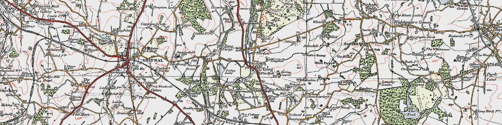 Old map of Tong Lodge in 1921