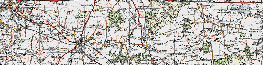 Old map of Tong Forge in 1921
