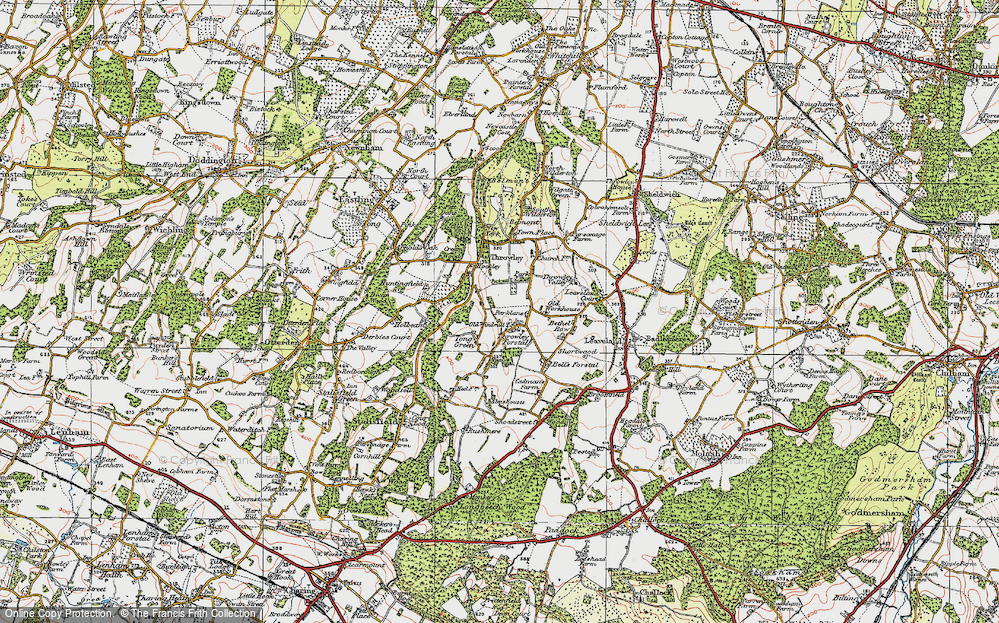 Old Map of Tong Green, 1921 in 1921