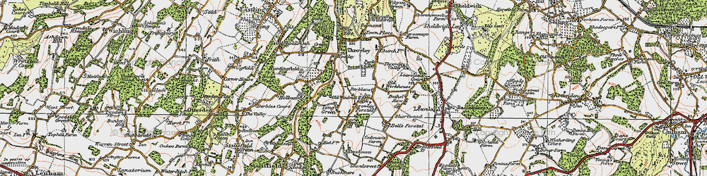 Old map of Tong Green in 1921