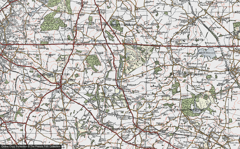 Old Map of Tong Norton, 1921 in 1921