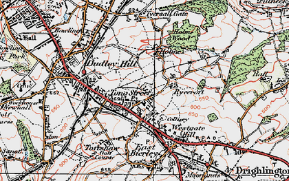 Old map of Tong Street in 1925