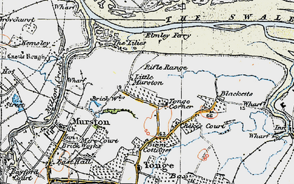 Old map of Tonge Corner in 1921