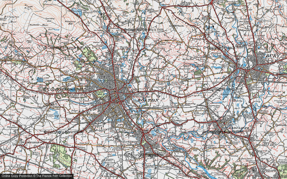 Old Map of Tonge Fold, 1924 in 1924