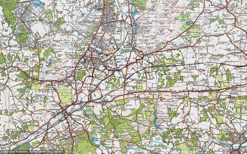 Old Map of Tongham, 1919 in 1919