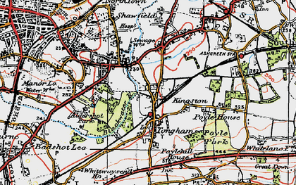 Old map of Tongham in 1919