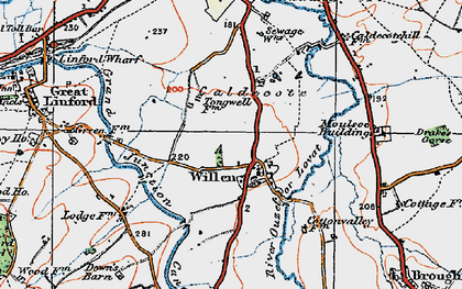 Old map of Tongwell in 1919