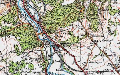 Old map of Tongwynlais in 1919