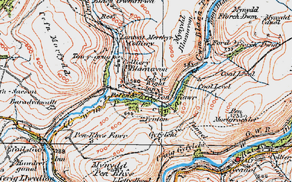 Old map of Afon Pelenna in 1923