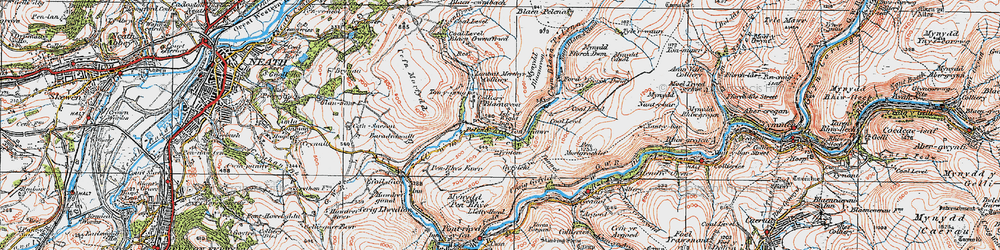 Old map of Tonmawr in 1923