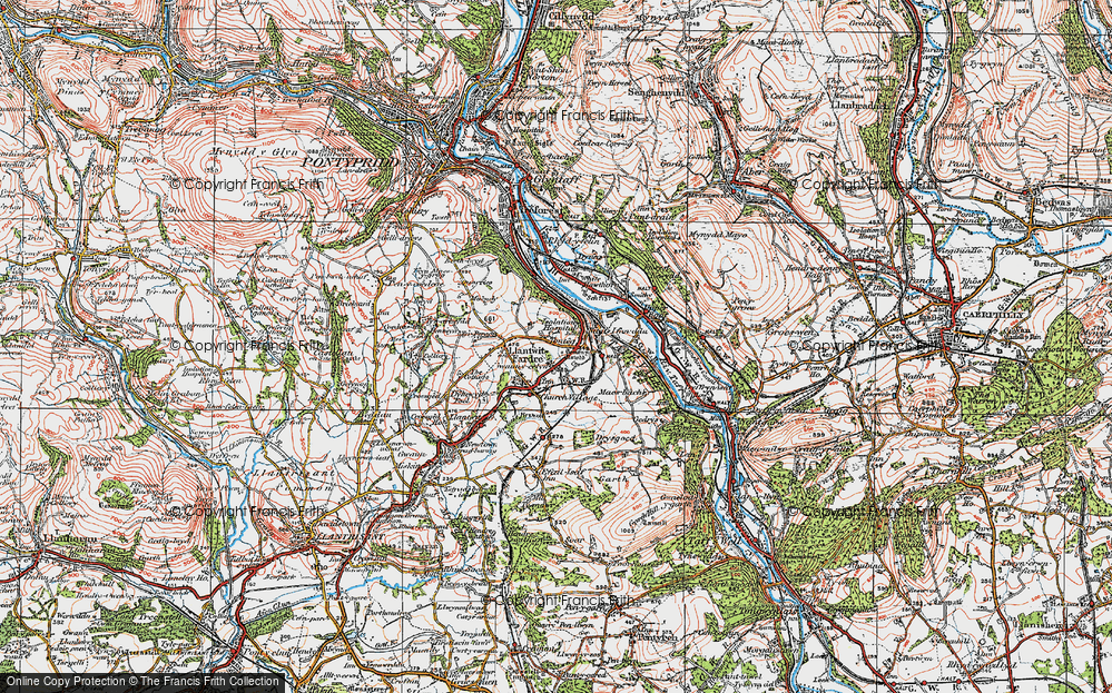 Old Map of Tonteg, 1922 in 1922