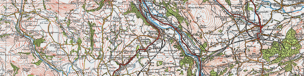 Old map of Tonteg in 1922