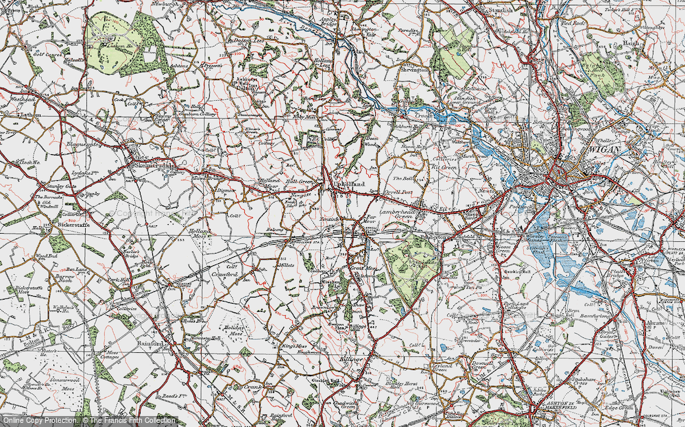 Old Map of Tontine, 1924 in 1924