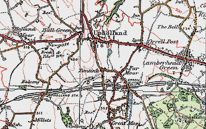 Old map of Tontine in 1924