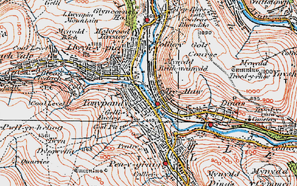 Old map of Tonypandy in 1922