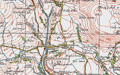 Old map of Tonyrefail in 1922