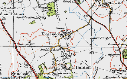 Old map of Toot Baldon in 1919