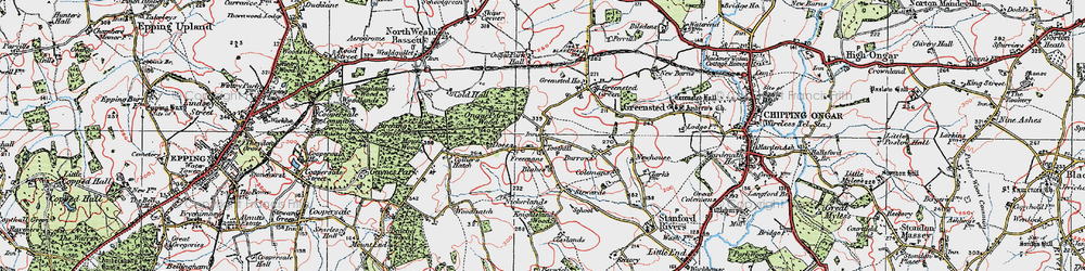 Old map of Toot Hill in 1920