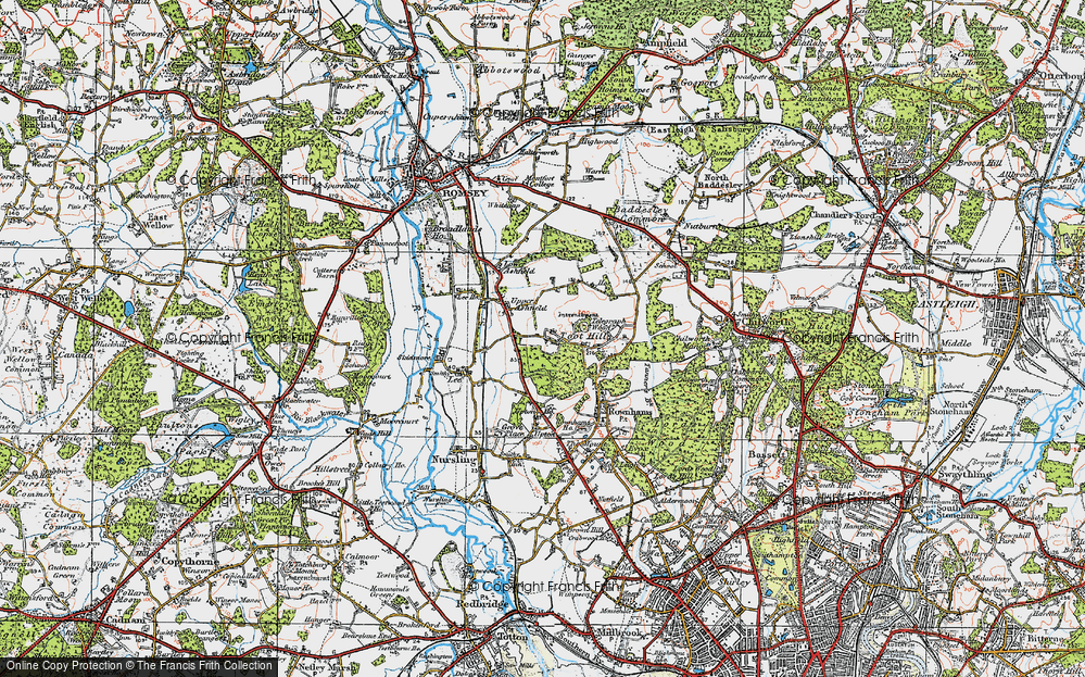 Old Map of Toothill, 1919 in 1919