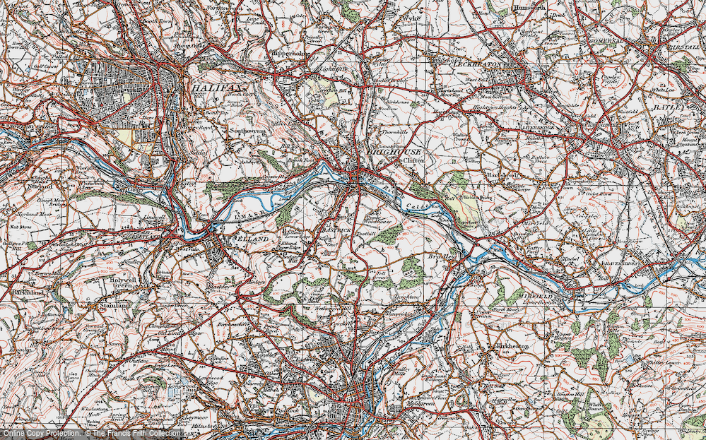 Old Map of Toothill, 1925 in 1925
