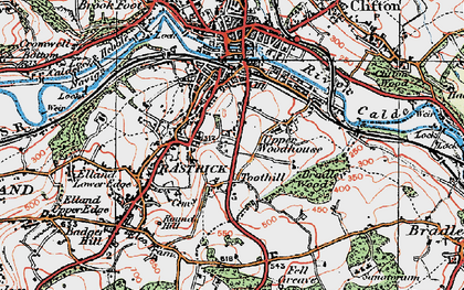 Old map of Toothill in 1925