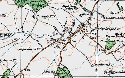 Old map of Worley's Wood in 1919