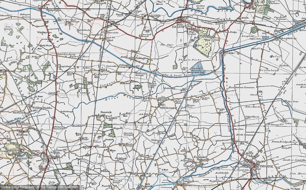 Old Map of Historic Map covering Balne Lodge in 1924