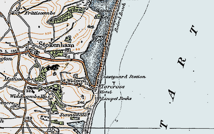 Old map of Limpet Rocks in 1919