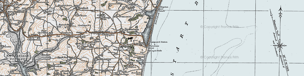 Old map of Torcross in 1919