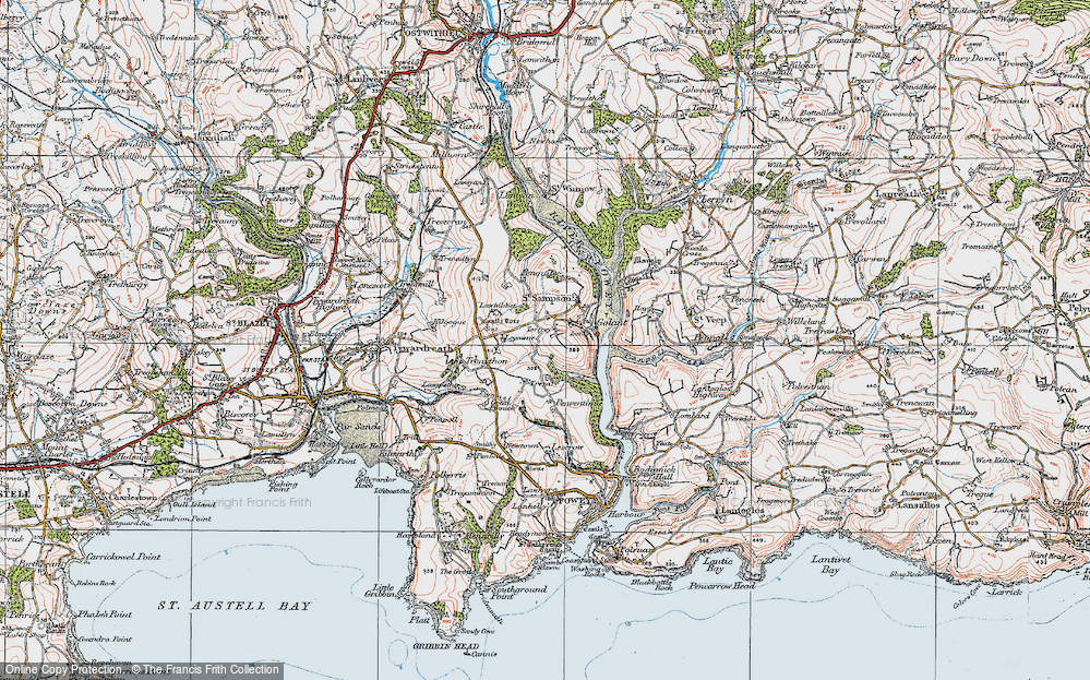 Old Map of Historic Map covering Leyonne in 1919