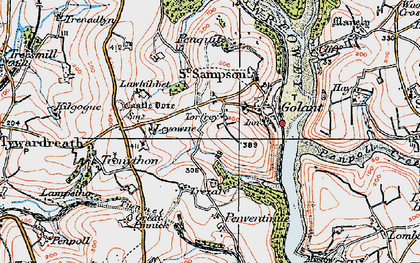 Old map of Torfrey in 1919