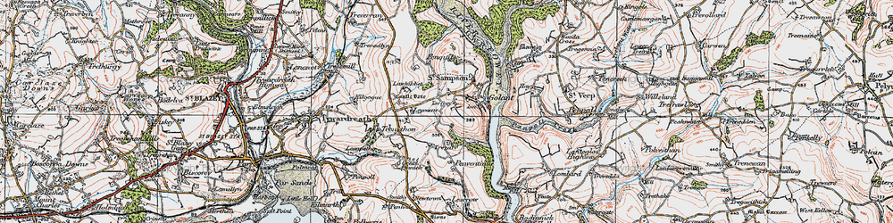 Old map of Leyonne in 1919