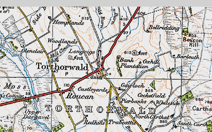 Old map of West Roucan in 1925