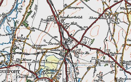 Old map of Whitlenge Ho in 1920