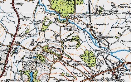 Old map of Tortworth in 1919