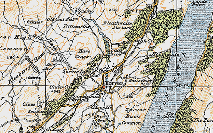 Old map of Ash Gill Beck in 1925