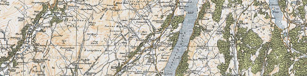 Old map of Torver in 1925