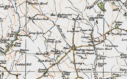 Old map of Whelp Stone Crag in 1924