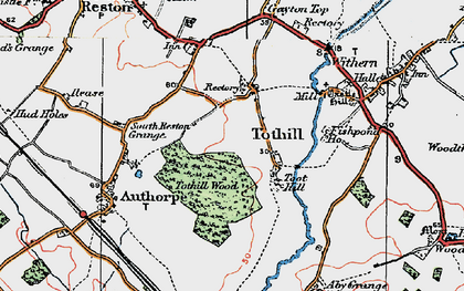 Old map of Toot Hill (Motte and Bailey) in 1923