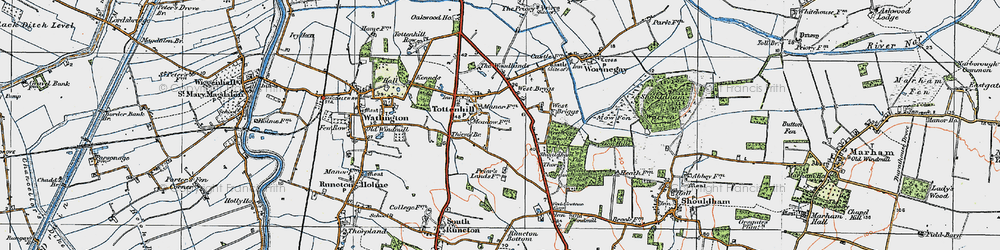 Old map of Westbriggs Wood in 1922
