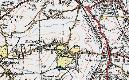 Old map of Totteridge in 1920
