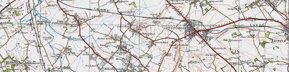 Old map of Totternhoe in 1920