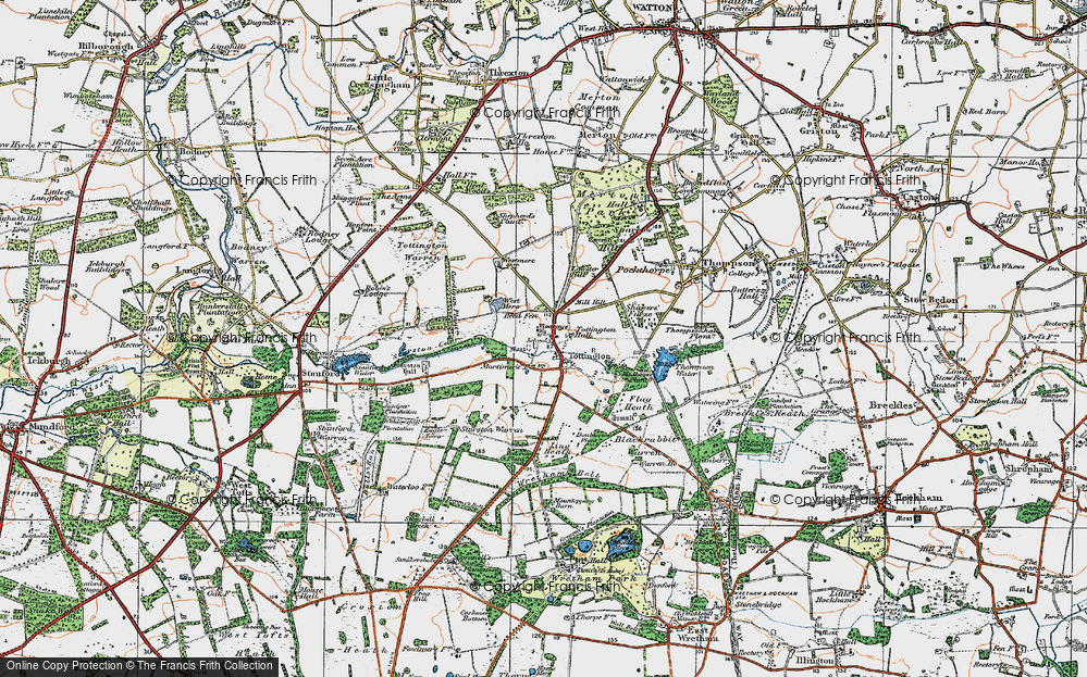 Old Map of Historic Map covering Tommy's Belt in 1921