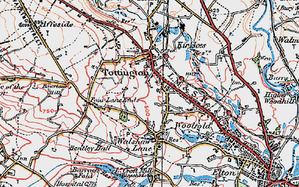 Old map of Tottington in 1924