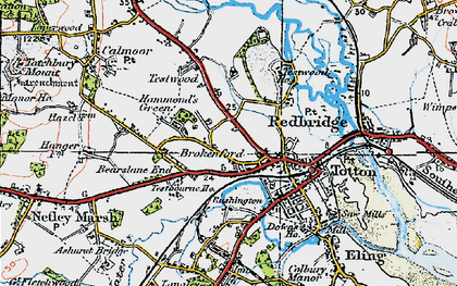 Old map of Totton in 1919