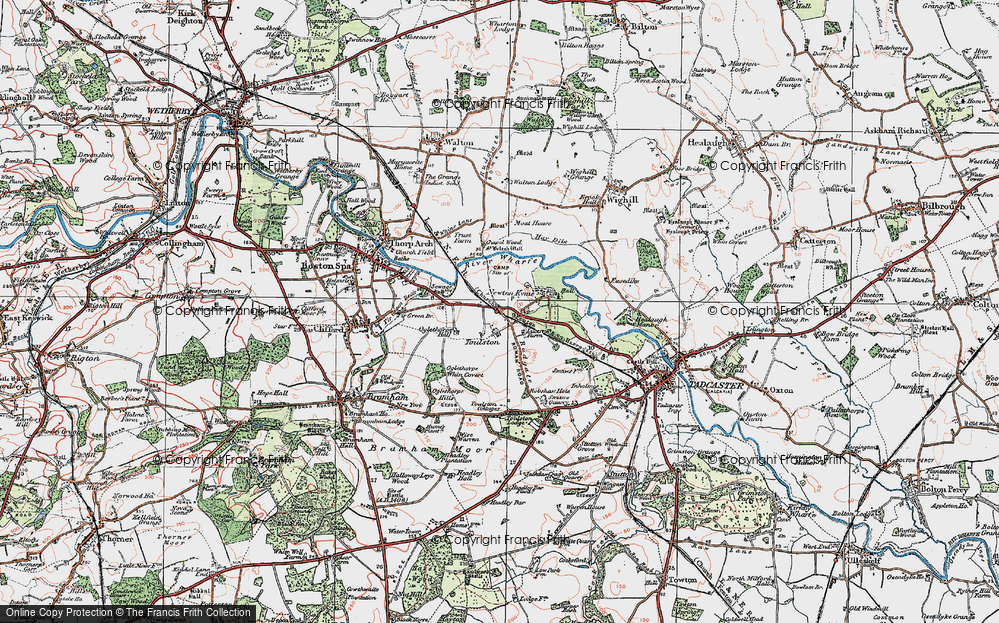 Old Map of Toulston, 1925 in 1925