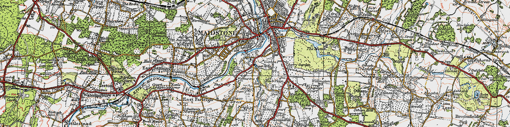 Old map of Abbey Gate Place in 1921